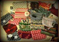 Сумочки-клатчи косметички текстильные