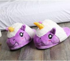 Домашние тапочки Единорог 26-27см Фиолетовый