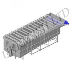 Treatment facilities. Installation is floatation
