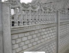 Заборы бетонные двухсторонние комбинированные