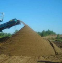 Пісок (митий) сушений  фракцій 0-0,5; 0,5-1,0