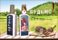Графин Будьмо Оформление бутылки под национальный