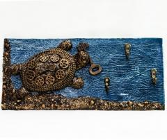 "Ключница на стену в прихожую ""Черепаха"