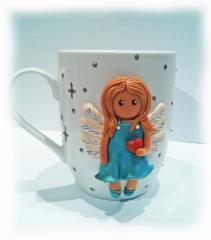 Чашка сувенир Нежный ангел Подарок девочке маме