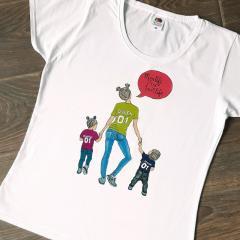 Стильная футболка с ручной росписью Подарок