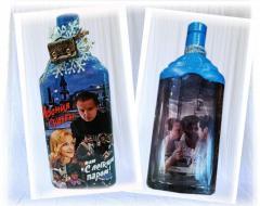 Новогоднее оформление бутылки оригинальный подарок
