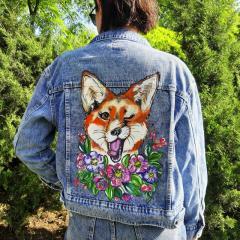 Роспись красками Вашей джинсовой куртки в подарок