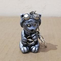 Брелок для ключей (сумки рюкзака) Кот стимпанк