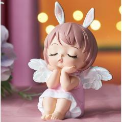 Декоративная фигурка (статуэтка) девочка-зайчик