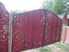 Металлические кованные ворота под заказ по