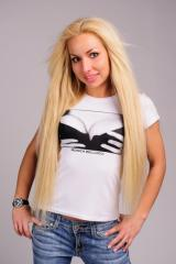 T-shirt 230_MB White, black (T-shirts female, with