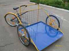 The big cargo bicycle with console fastening of