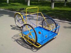The cargo bicycle with standard fastening of