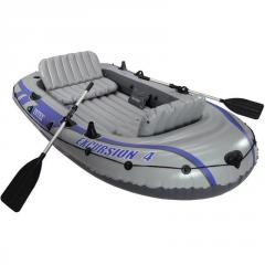 Четырехместная надувная лодка Intex...