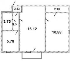 Квартира 2-х комнатная в центре Кременчуга
