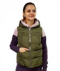 Женская короткая жилетка