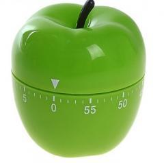 Кухонный таймер механический Зеленое Яблоко