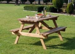 Мебель дачная, стол и стулья с дерева для дачи