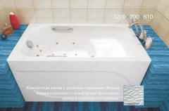Ванна акрилова Тритон Арго 1200х700х610 з сидінням