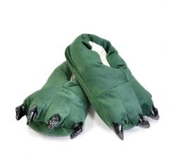 Тапочки кигуруми детские зеленого цвета