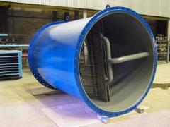 Cleaning of the condenser of the turbine