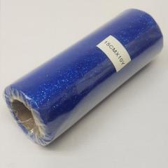 Фатин в рулоне с напылением - 15см, (СИНИЙ ЭЛЕКТРИК М373) 10ярд (657-Л-0794)