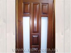 Doors are smooth interroom. Pine. From the