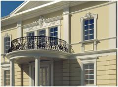 Steklofibrobetonny architectural details