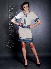 The embroidered ZhK 63-30 fashionable female suit,