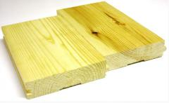 Floor board rabbeted