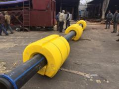 Floats for the slurry pipeline, the slurry