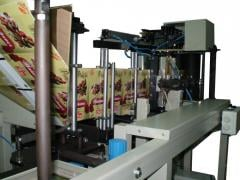 Automatic machine for production of packages of