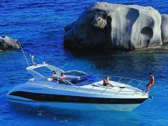 Yachts are sailing and motor, the Atlantis 47 yach