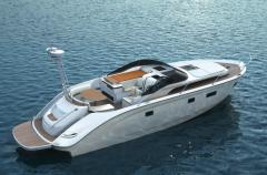 Yachts are motor, the Bavaria Deep Blue Open 46