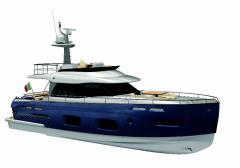 Яхты парусно-моторные, яхта Azimut Magellano 50