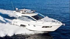 Yachts are motor, the Absolute 43 Fly yach