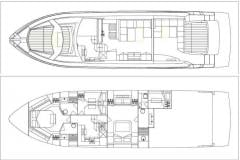 Yachts are motor, the Absolute 64 yach