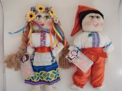 Doll the soft Ukrainian pass, Dolls author's