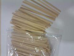 Disposable wooden sticks for stirring