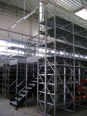 Multi-storey polochnny racks
