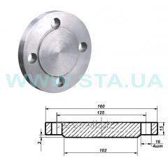 Deaf flange - a cap flange steel GOST 12820-80