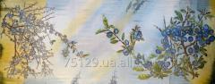 """Batic panel """"London"""", natural silk,"""