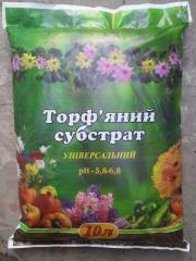 Торфяной субстрат 10 литров, Торф, Украина,