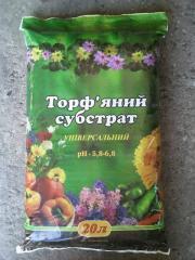 Peat substrate of 20 liters, low peat, Ukraine,