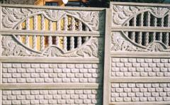 Decorative reinforced concrete fences