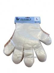 Перчатки полиэтиленовые 100шт Полимер