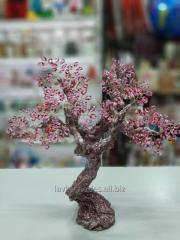 Чарівна сакура в цвіту з бісеру, 25 см