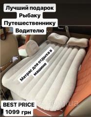 Надувной матрас для сна в машине с насосом