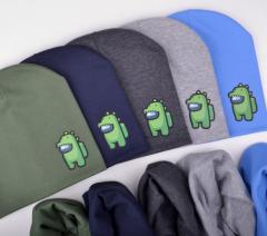Комплект шапка+хомут Among US Модная Шапка для мальчика Among Us. Шапка для детей 4-8 лет