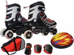 Набор ролики + шлем +защита+ чехол. Лучший подарок! Ролики раздвижные 31-34 размер. Комплект роликов с защитой